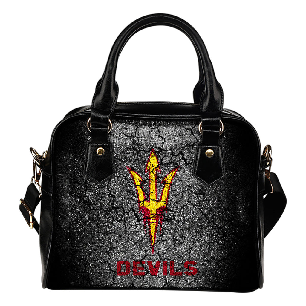 Wall Break Arizona State Sun Devils Shoulder Handbags Women Purse