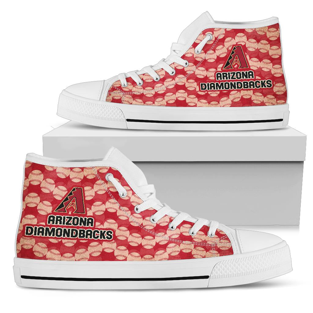 Wave Of Ball Arizona Diamondbacks High Top Shoes