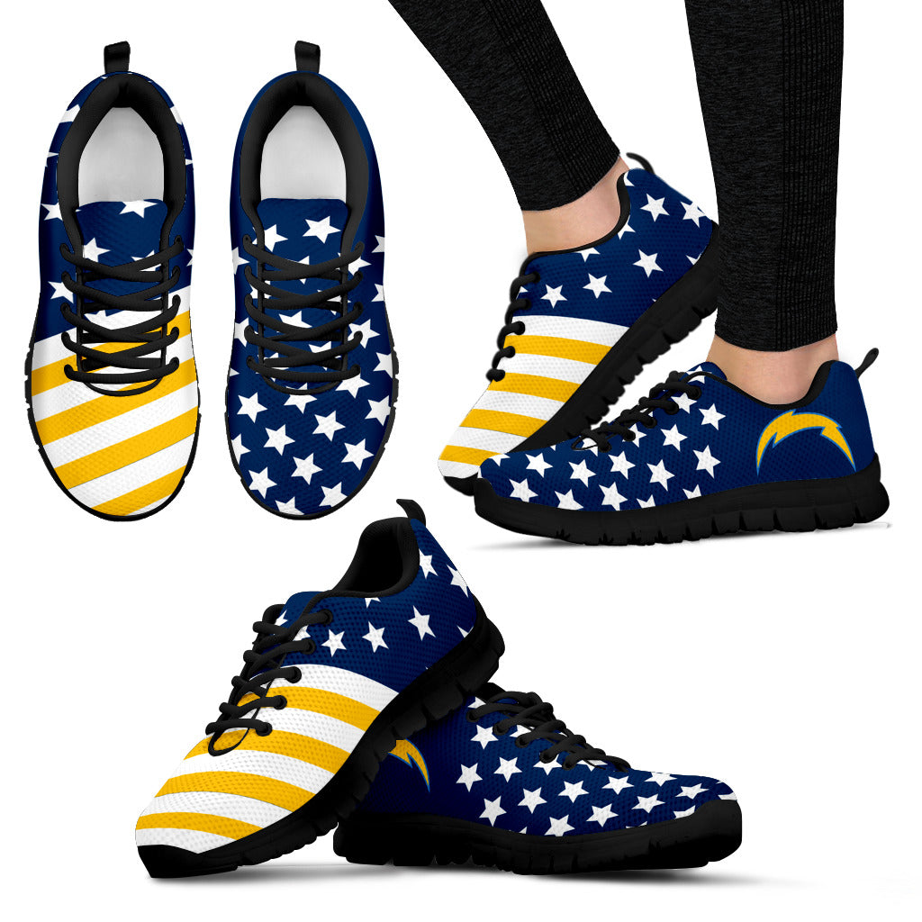 America Flag Full Stars Stripes Los Angeles Chargers Sneakers
