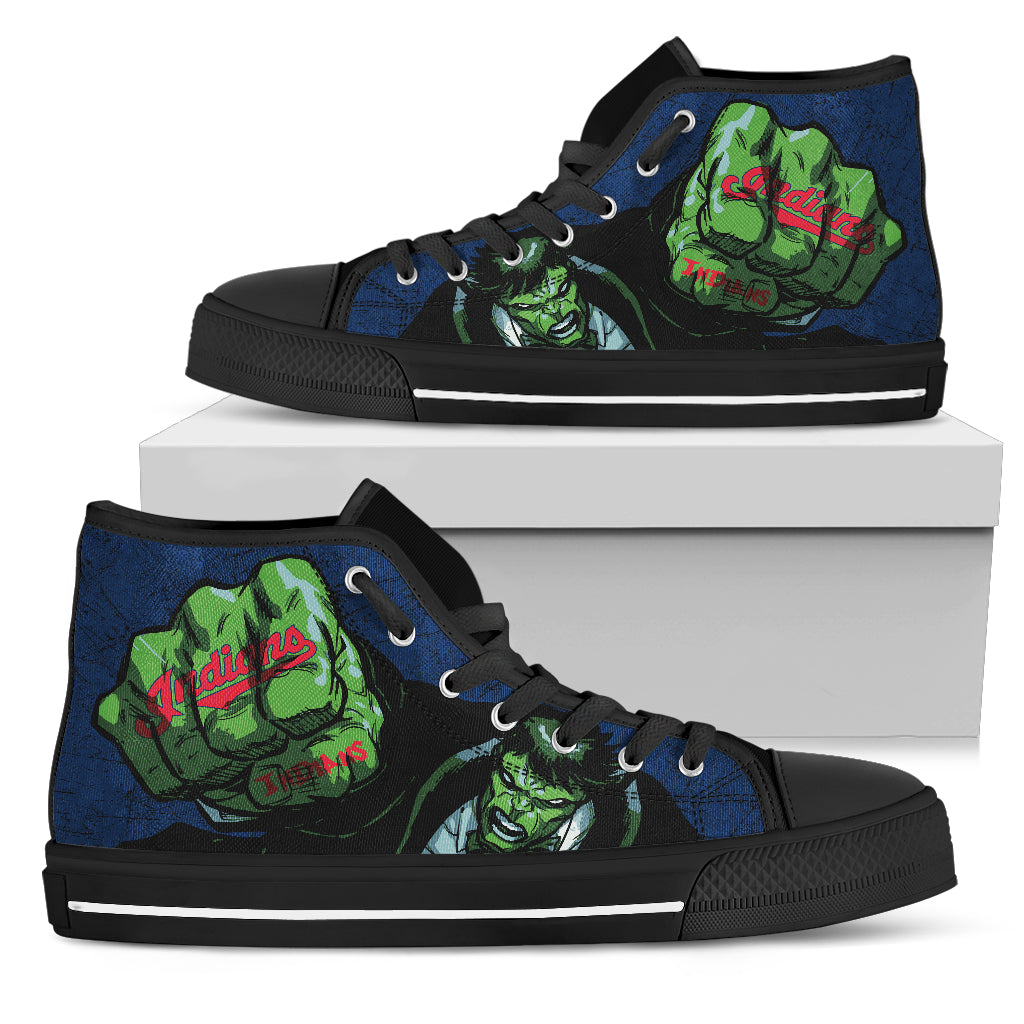 Hulk Punch Cleveland Indians High Top Shoes
