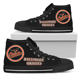 Circle Logo Baltimore Orioles High Top Shoes