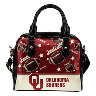 Personalized American Football Awesome Oklahoma Sooners Shoulder Handbag