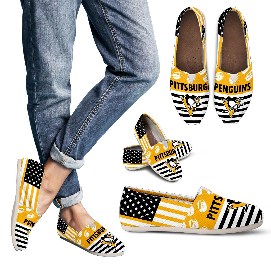 American Flag Pittsburgh Penguins Casual Shoes
