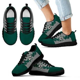 Doodle Line Amazing Dallas Stars Sneakers V1