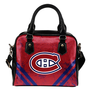 Couple Curves Light Good Logo Montreal Canadiens Shoulder Handbags