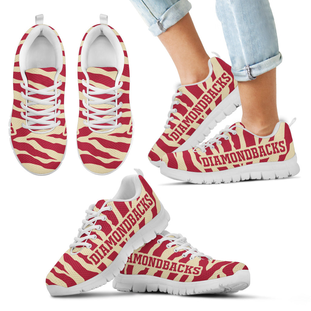 Tiger Skin Stripes Pattern Print Arizona Diamondbacks Sneakers