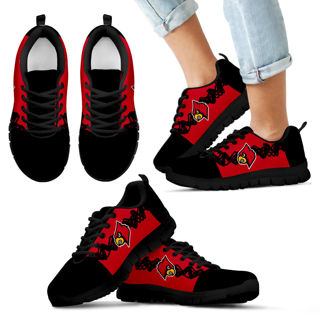 Doodle Line Amazing Louisville Cardinals Sneakers V2