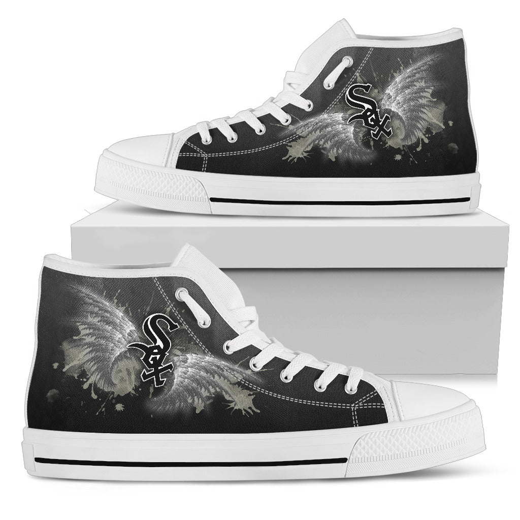 Angel Wings Chicago White Sox High Top Shoes