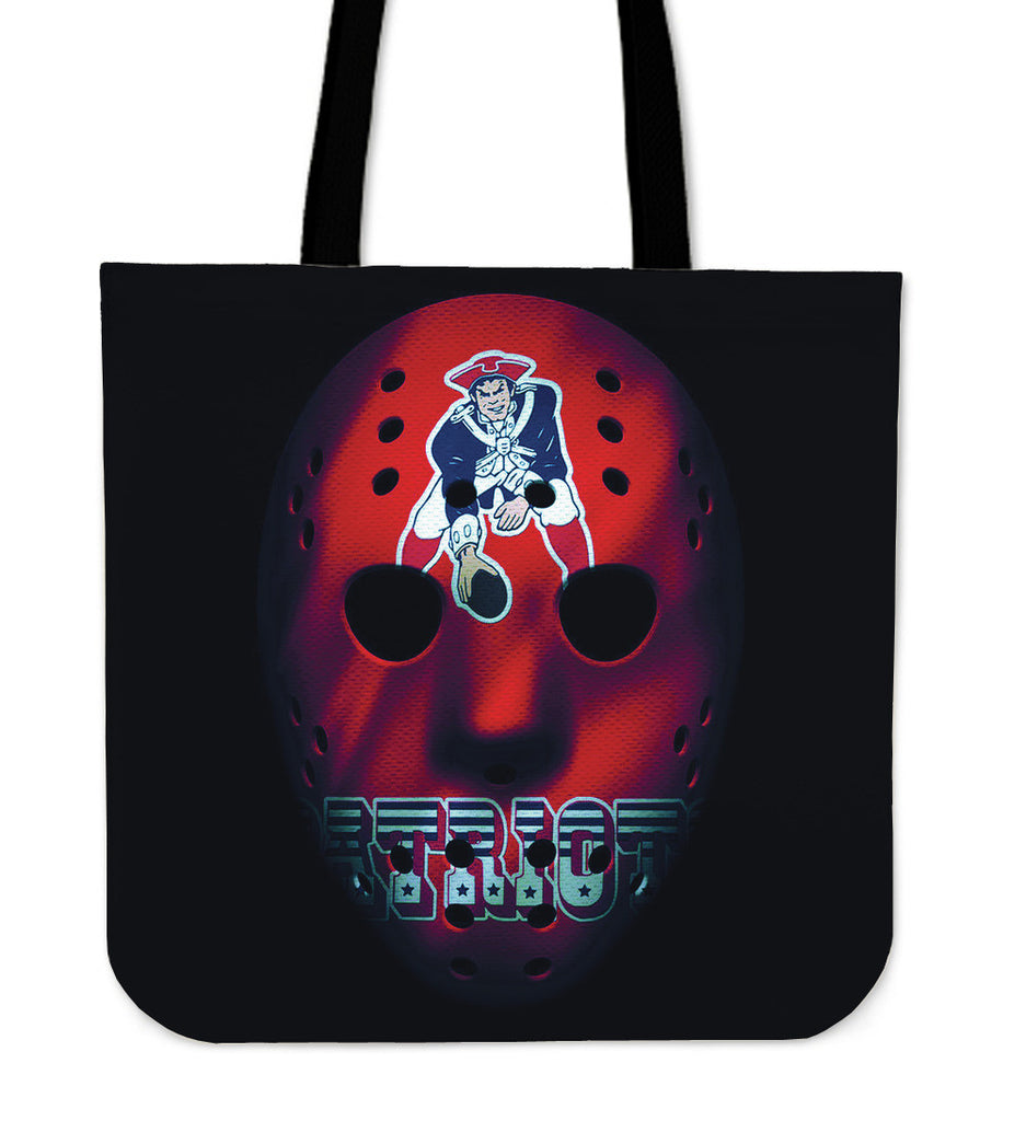 War Mask New England Patriots Tote Bag - Best Funny Store