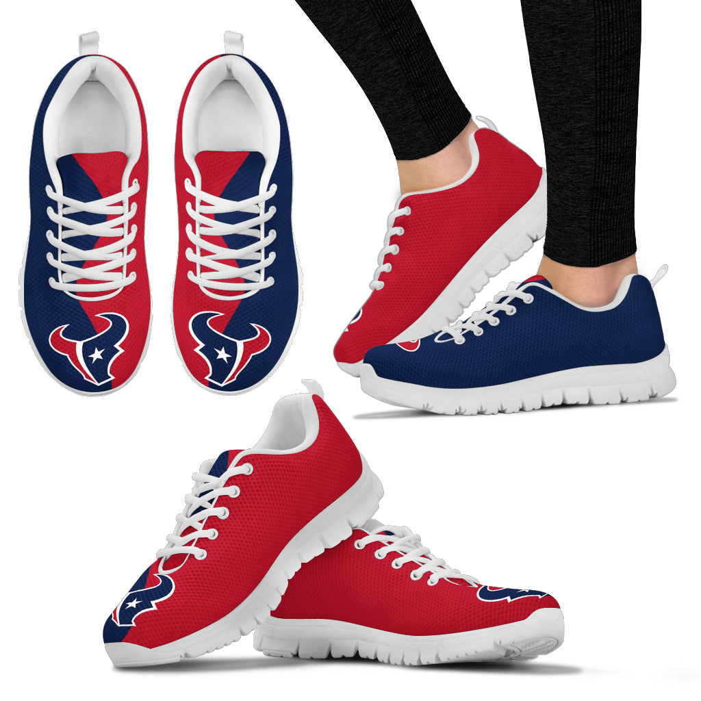Two Colors Trending Lovely Houston Texans Sneakers