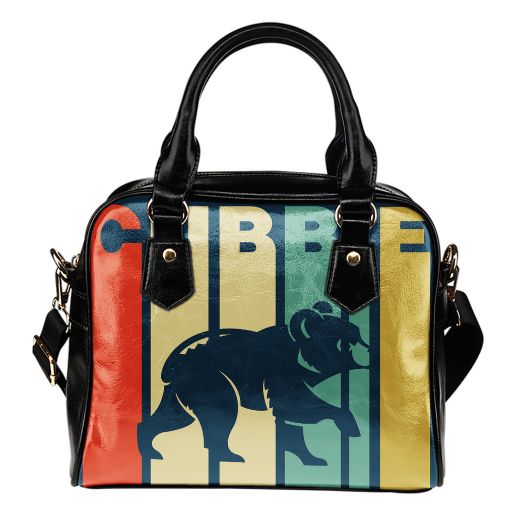 Chicago Cubs Vintage Silhouette Shoulder Handbags - Best Funny Store