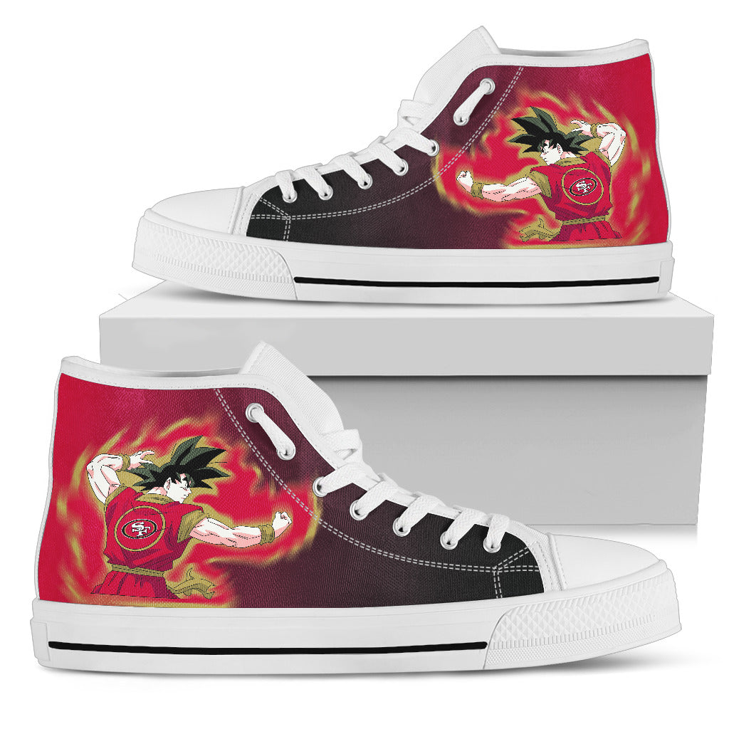 Son Goku Saiyan Power San Francisco 49ers High Top Shoes