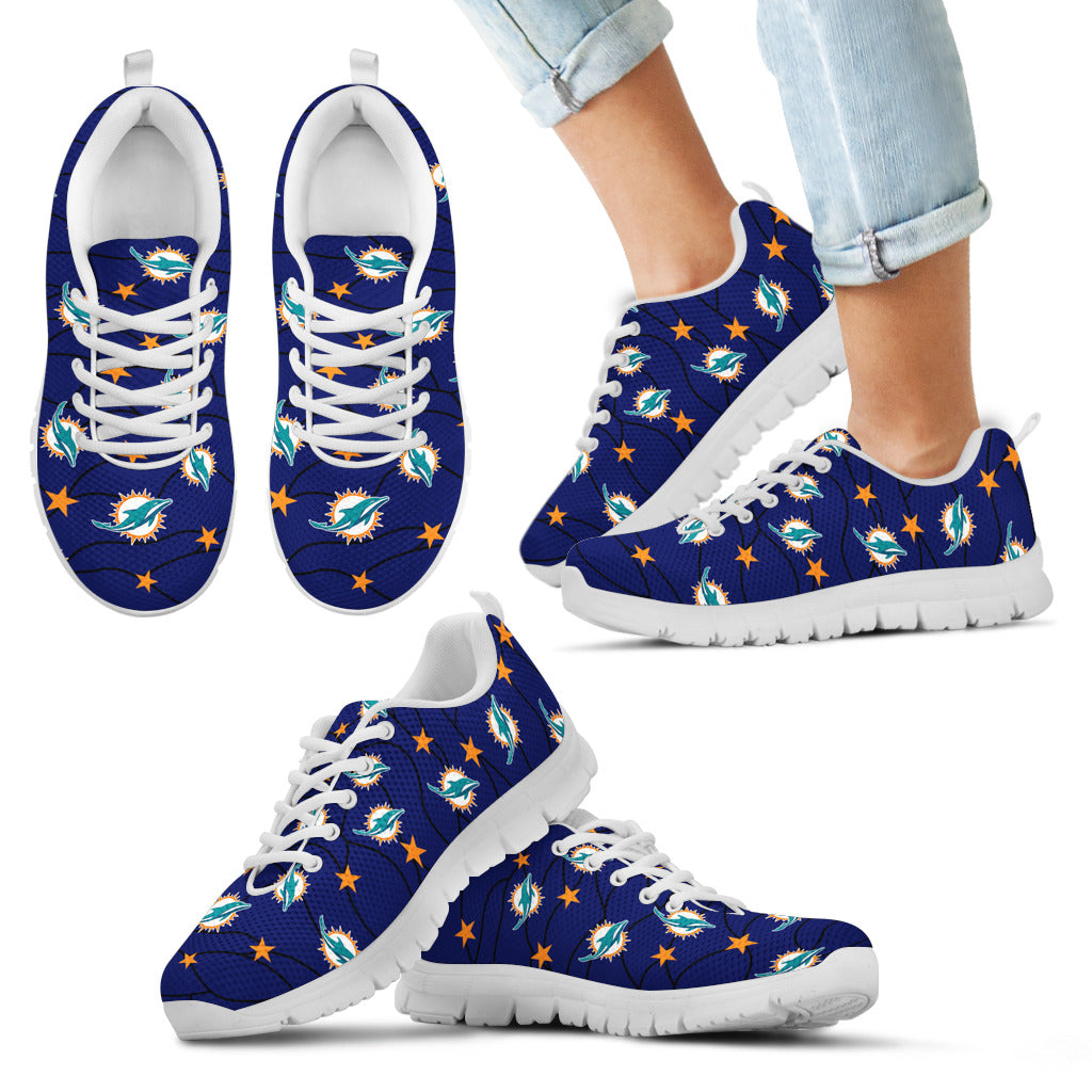 Star Twinkle Night Miami Dolphins Sneakers