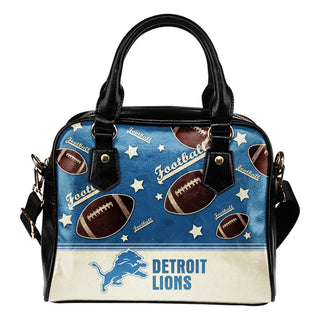 Personalized American Football Awesome Detroit Lions Shoulder Handbag
