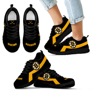 Boston Bruins Line Logo Sneakers