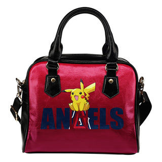 Pokemon Sit On Text Los Angeles Angels Shoulder Handbags