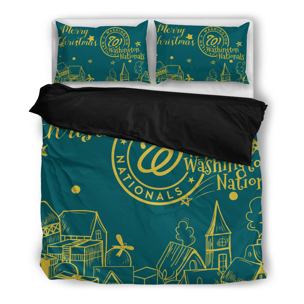 Nice Present Comfortable Christmas Washington Nationals Bedding Sets
