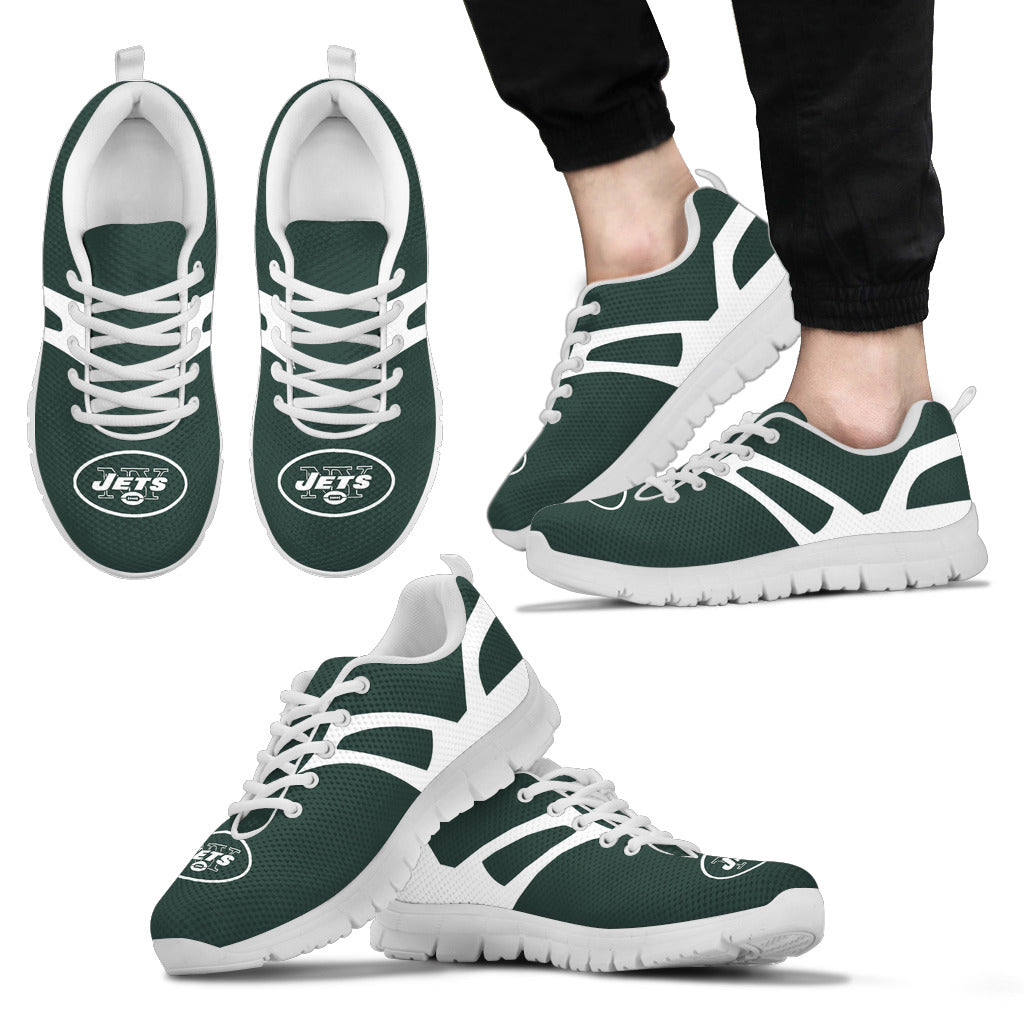 Line Amazing Bottom New York Jets Sneakers
