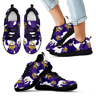 Minnesota Vikings Cotton Camouflage Fabric Military Solider Style Sneakers