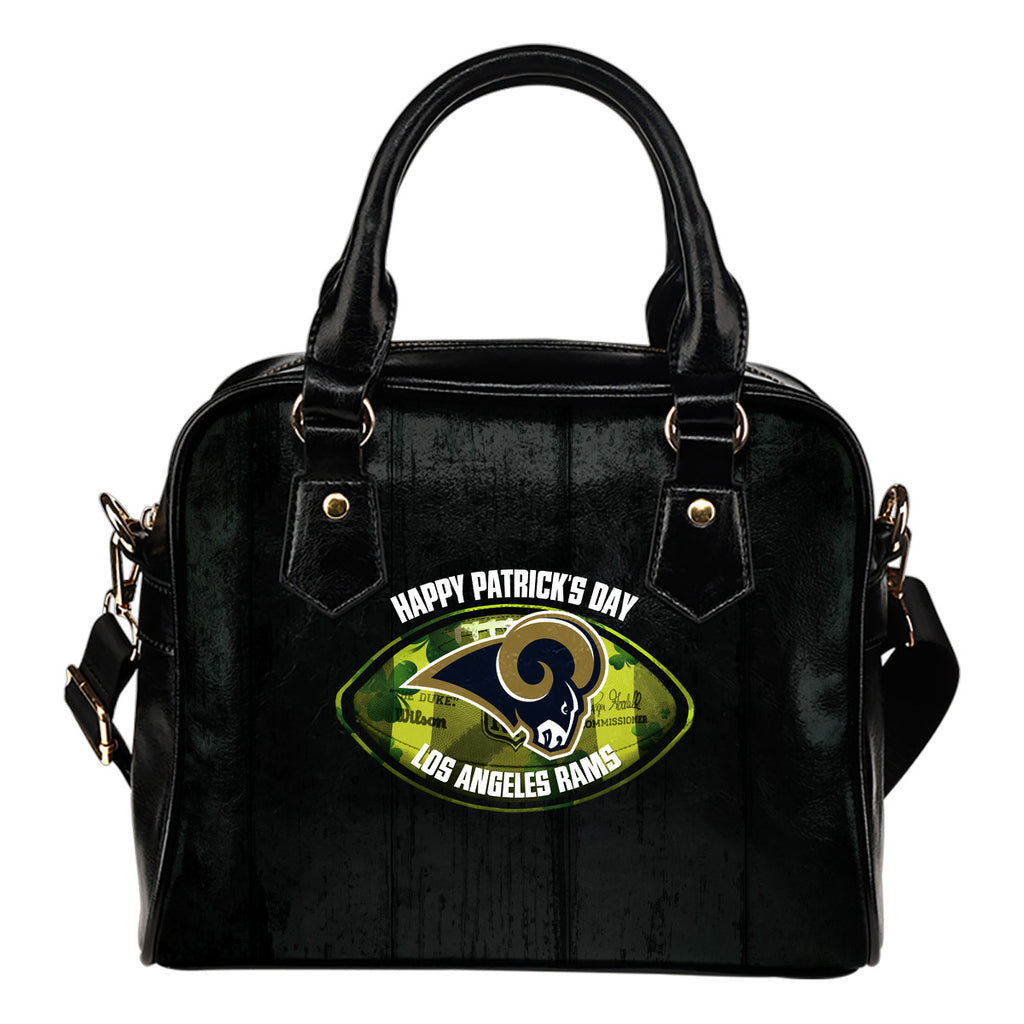 Retro Scene Lovely Shining Patrick's Day Los Angeles Rams Shoulder Handbags