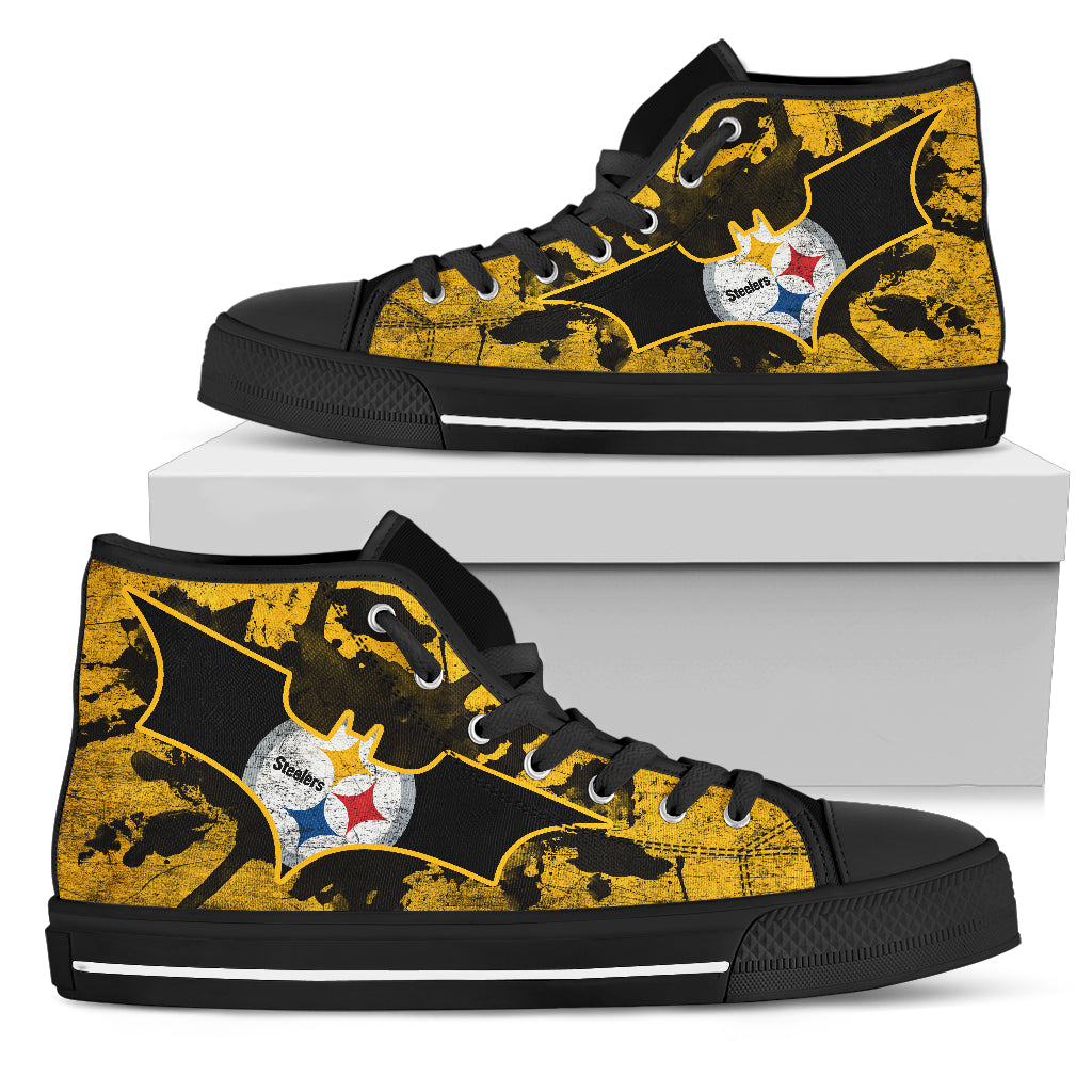 Batman Style Pittsburgh Steelers High Top Shoes