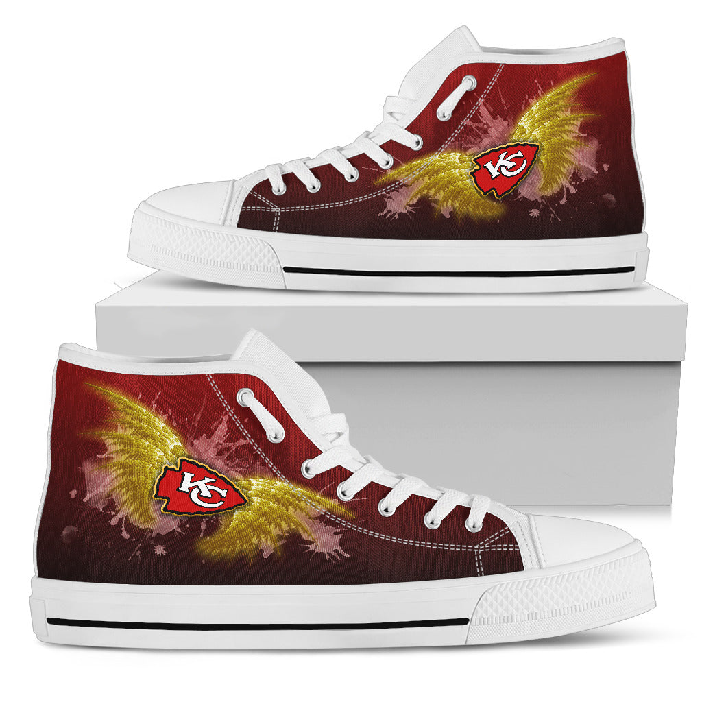 Angel Wings Kansas City Chiefs High Top Shoes