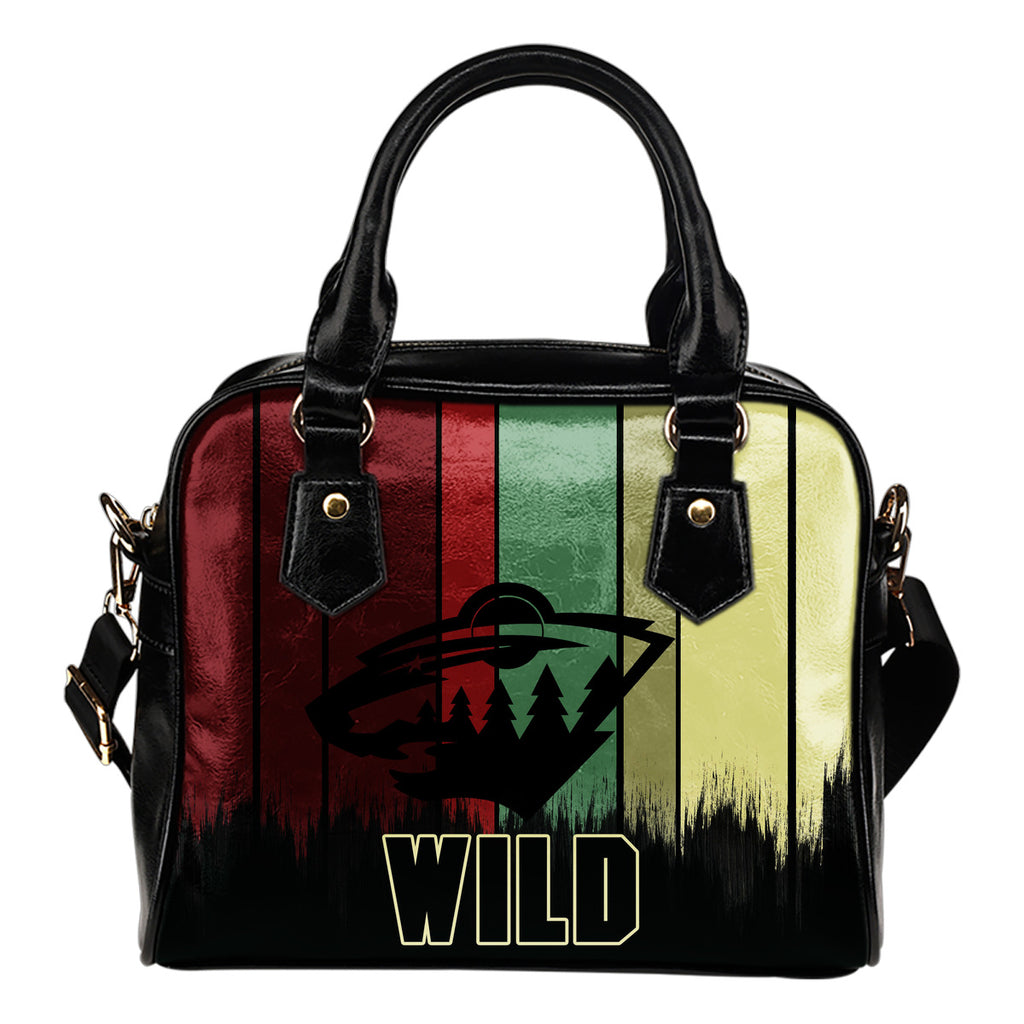 Vintage Silhouette Minnesota Wild Purse Shoulder Handbag