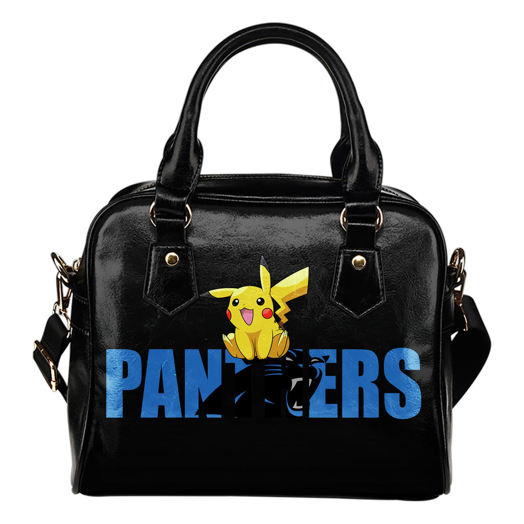 Pokemon Sit On Text Carolina Panthers Shoulder Handbags