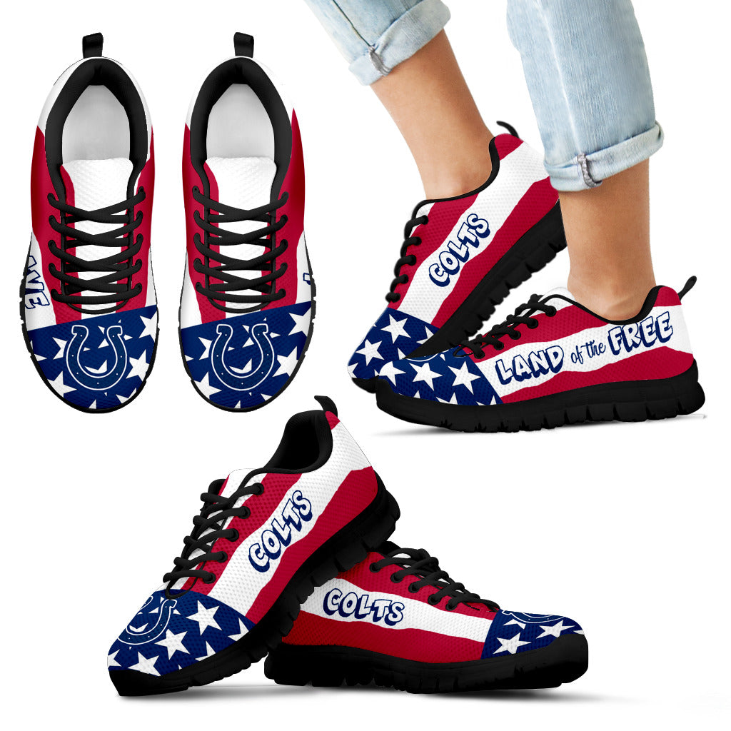 Proud Of American Flag Three Line Indianapolis Colts Sneakers