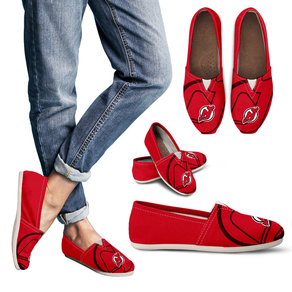 Enormous Logo Mix Tiny Logo Fantastic New Jersey Devils Casual Shoes