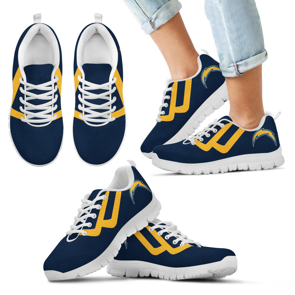 Line Bottom Straight Los Angeles Chargers Sneakers