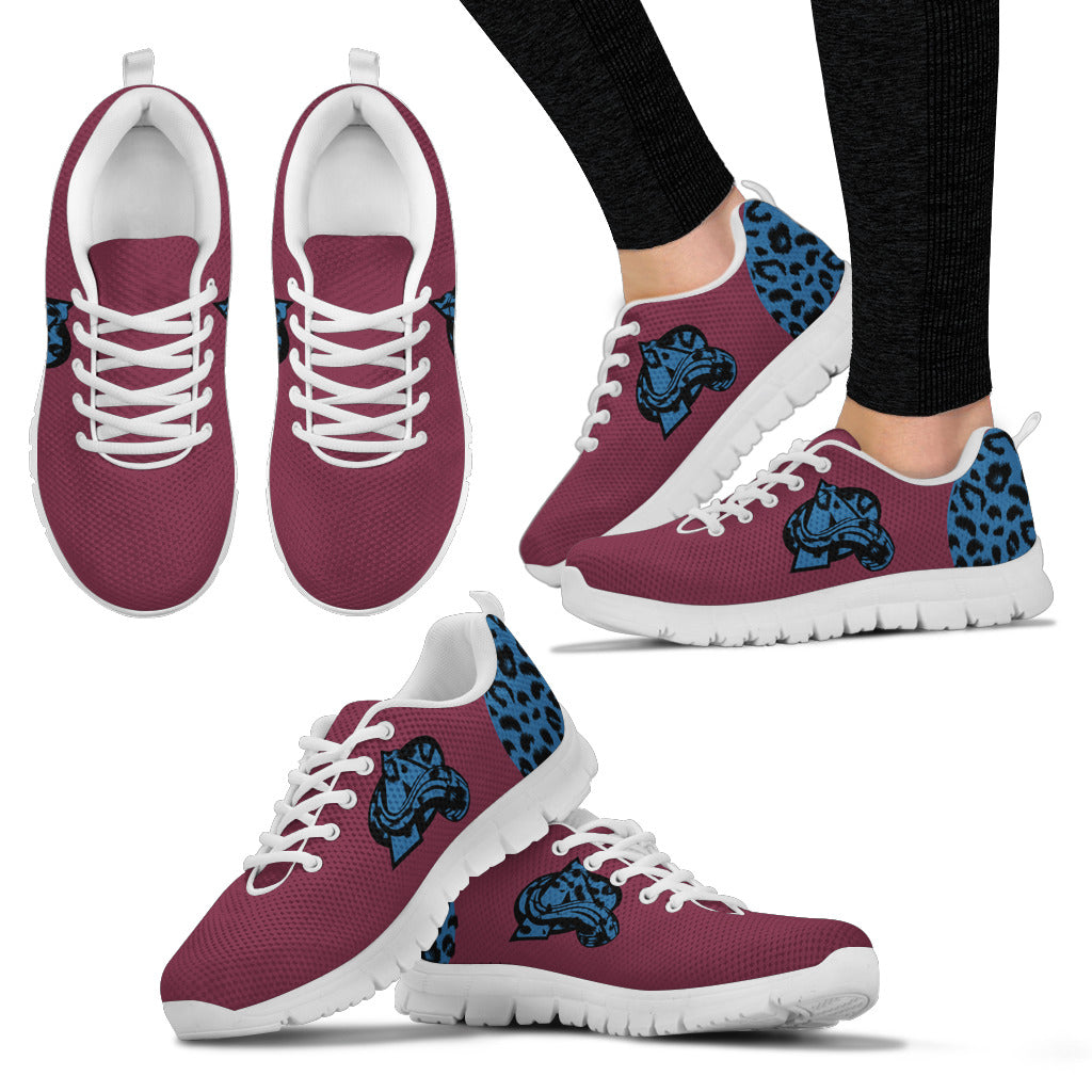 Cheetah Pattern Fabulous Colorado Avalanche Sneakers