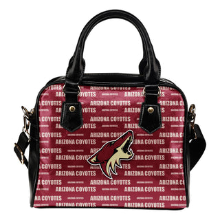 Nice Little Logo Arizona Coyotes Shoulder Handbags