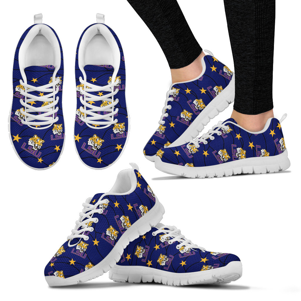 Star Twinkle Night LSU Tigers Sneakers