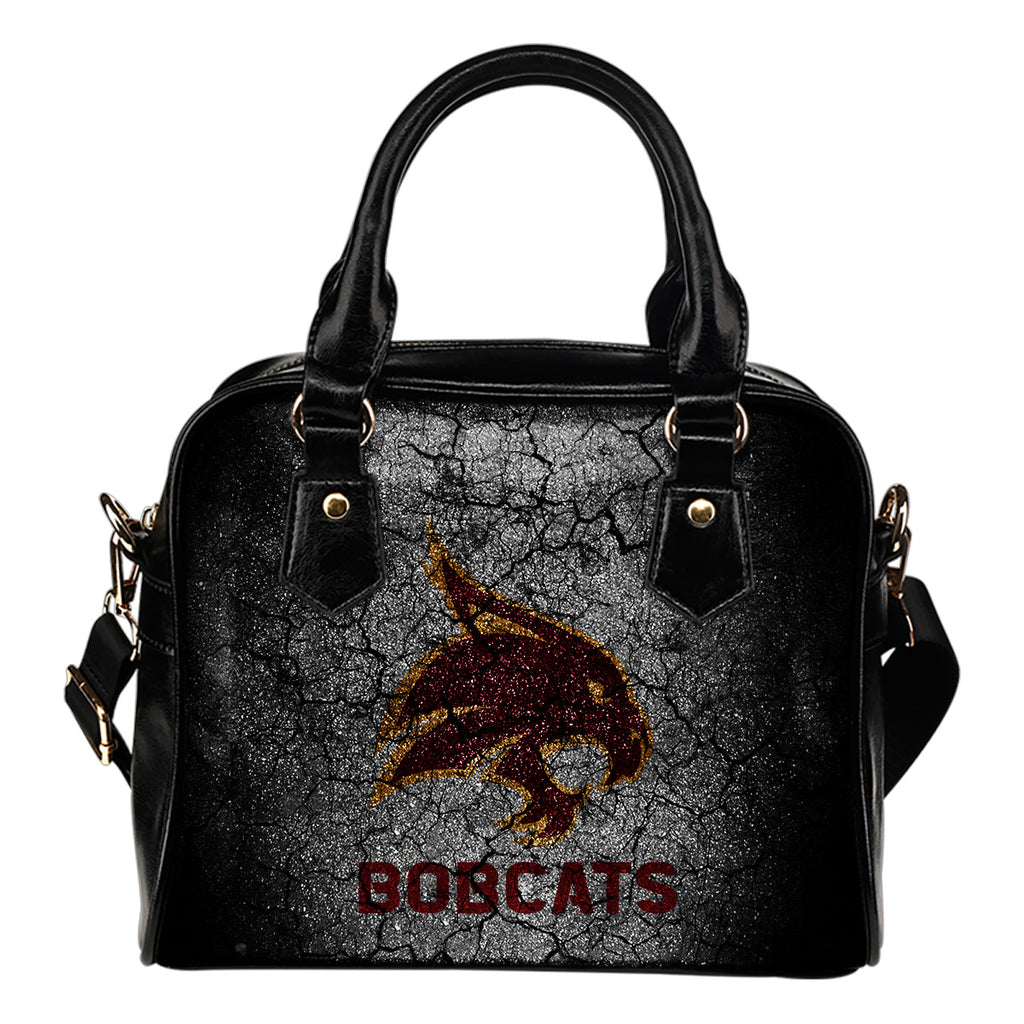 Wall Break Texas State Bobcats Shoulder Handbags Women Purse