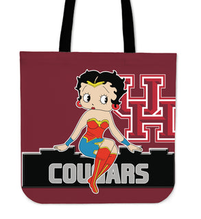 Wonder Betty Boop Houston Cougars Tote Bags