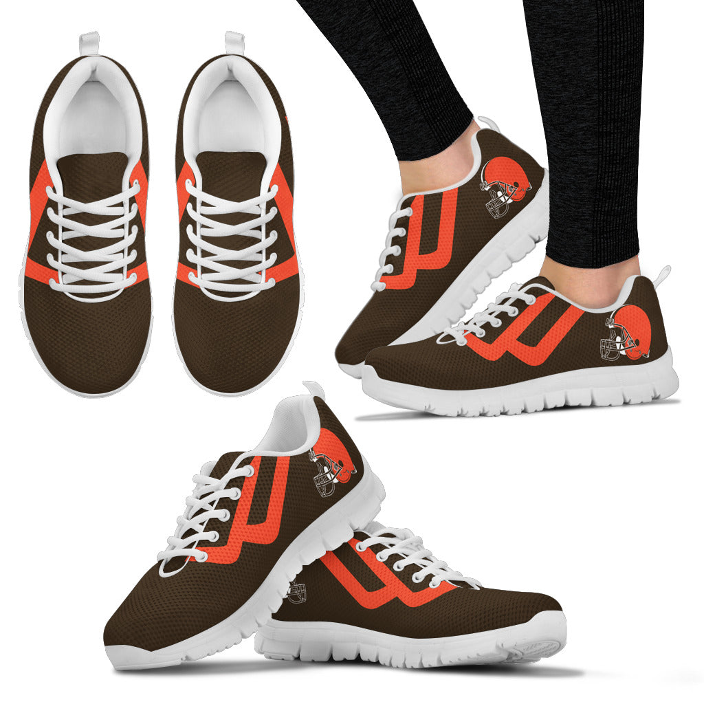 Line Bottom Straight Cleveland Browns Sneakers