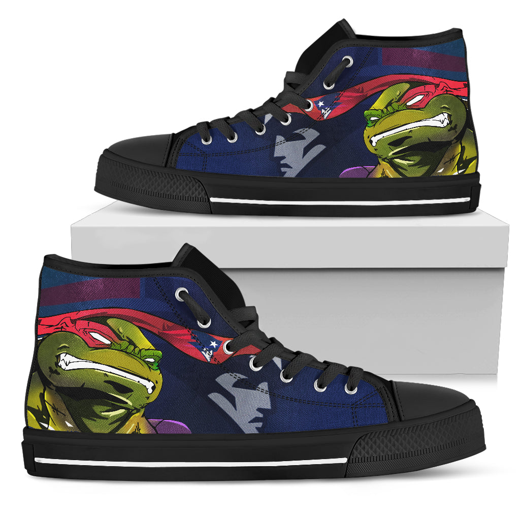Turtle New England Patriots Ninja High Top Shoes