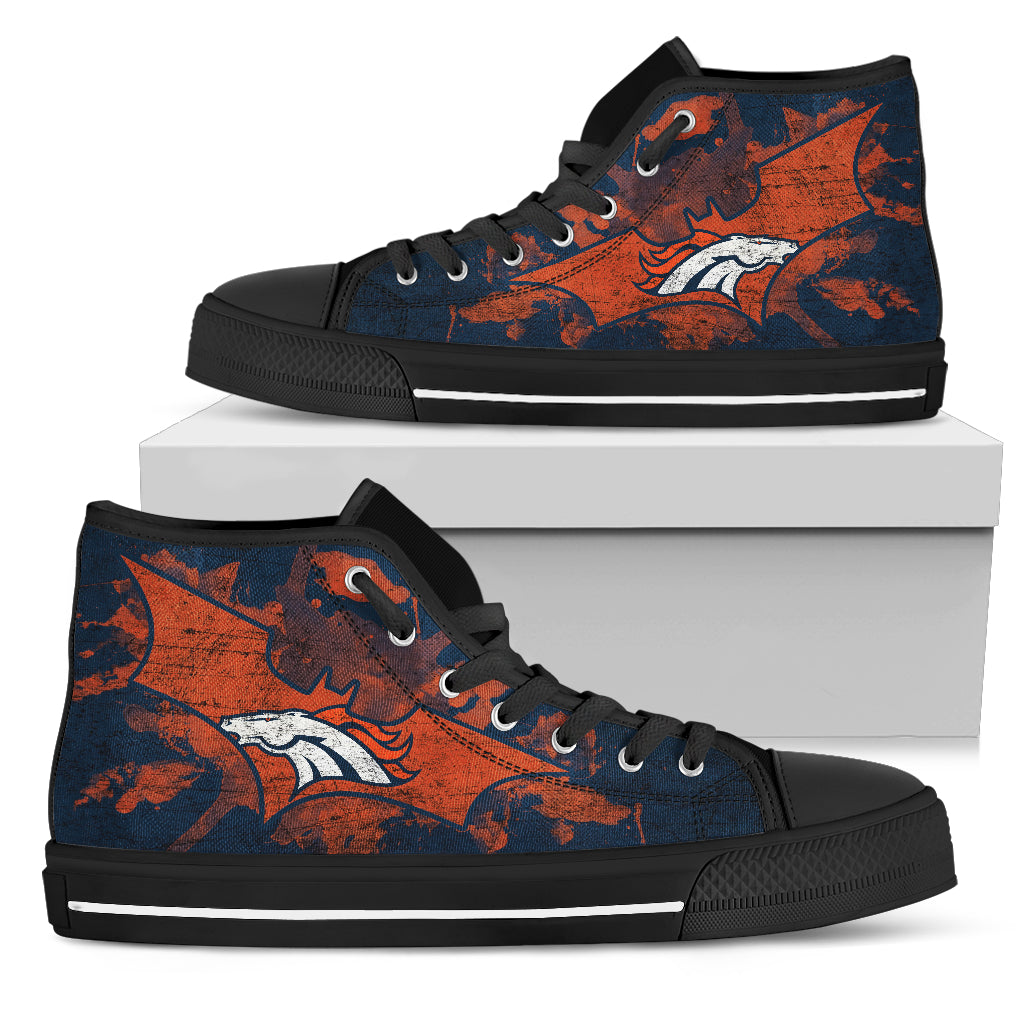 Batman Style Denver Broncos High Top Shoes