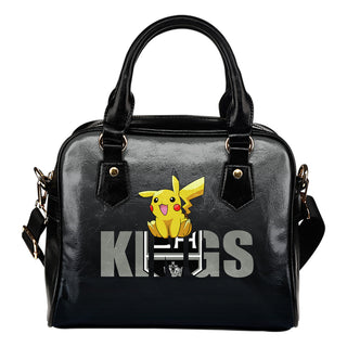 Pokemon Sit On Text Los Angeles Kings Shoulder Handbags