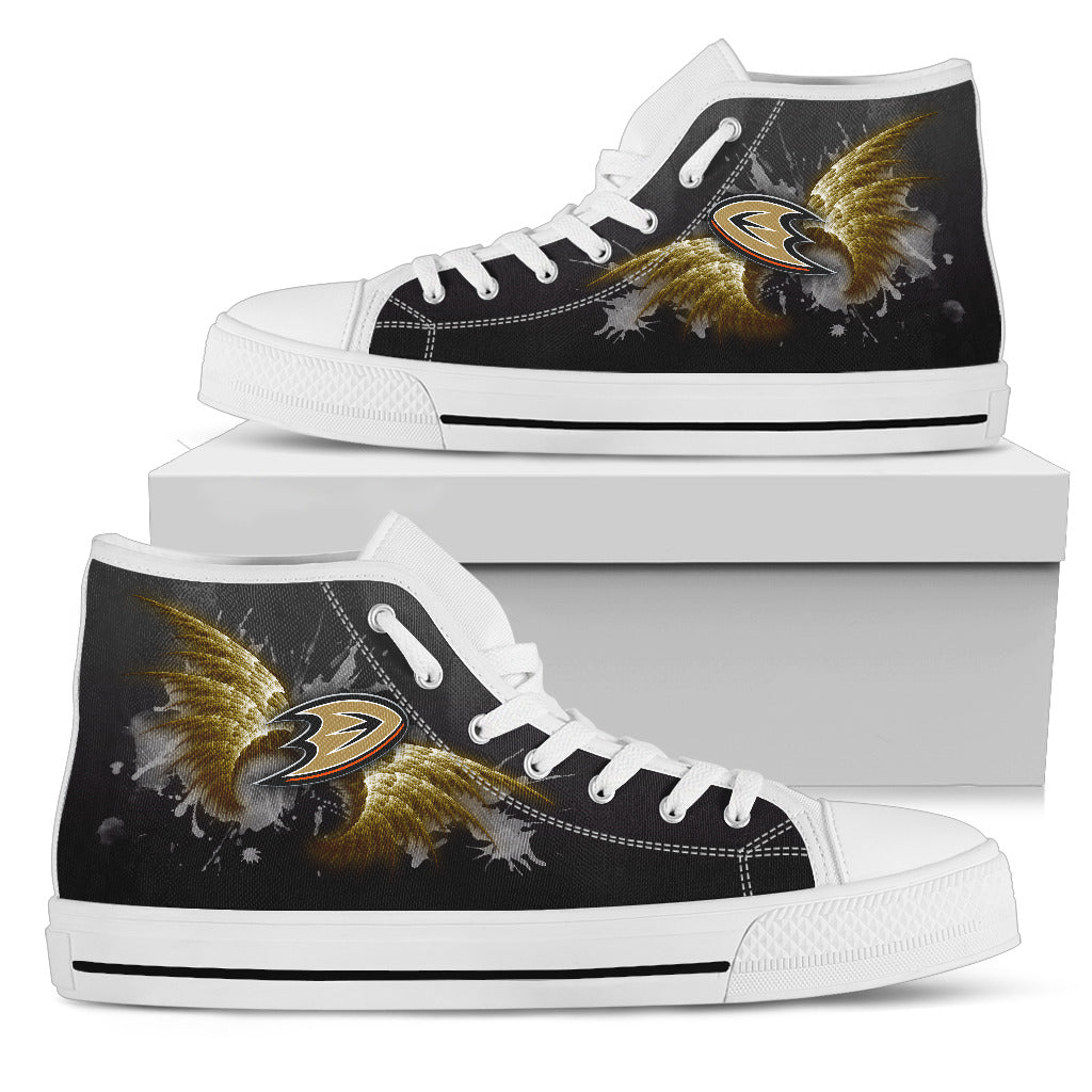 Angel Wings Anaheim Ducks High Top Shoes