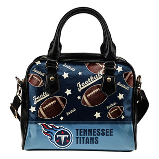 Personalized American Football Awesome Tennessee Titans Shoulder Handbag