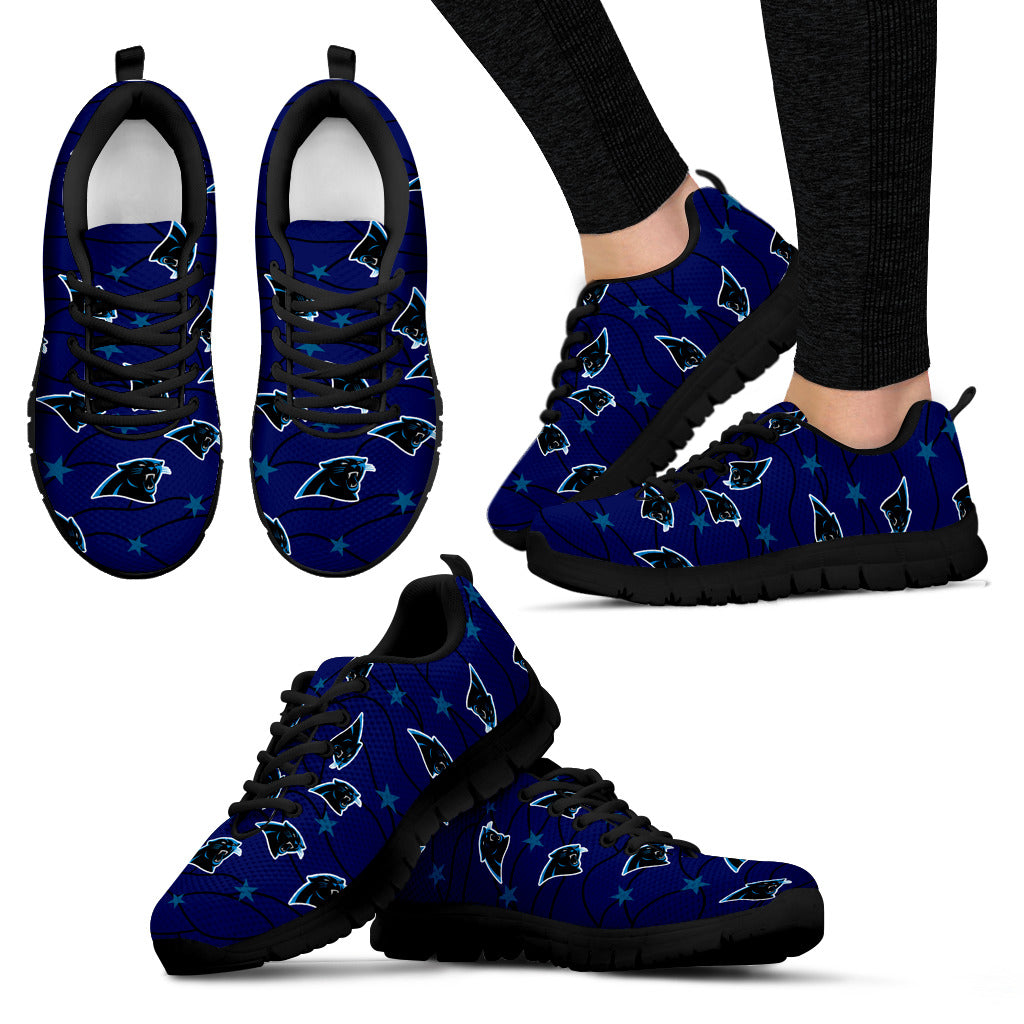 Star Twinkle Night Carolina Panthers Sneakers