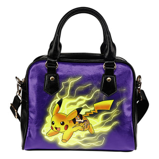 Pikachu Angry Moment Minnesota Vikings Shoulder Handbags