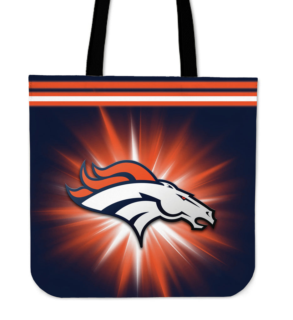 Denver Broncos Flashlight Tote Bags - Best Funny Store