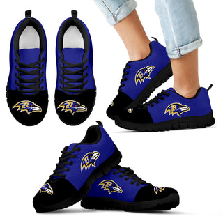 Two Colors Aparted Baltimore Ravens Sneakers