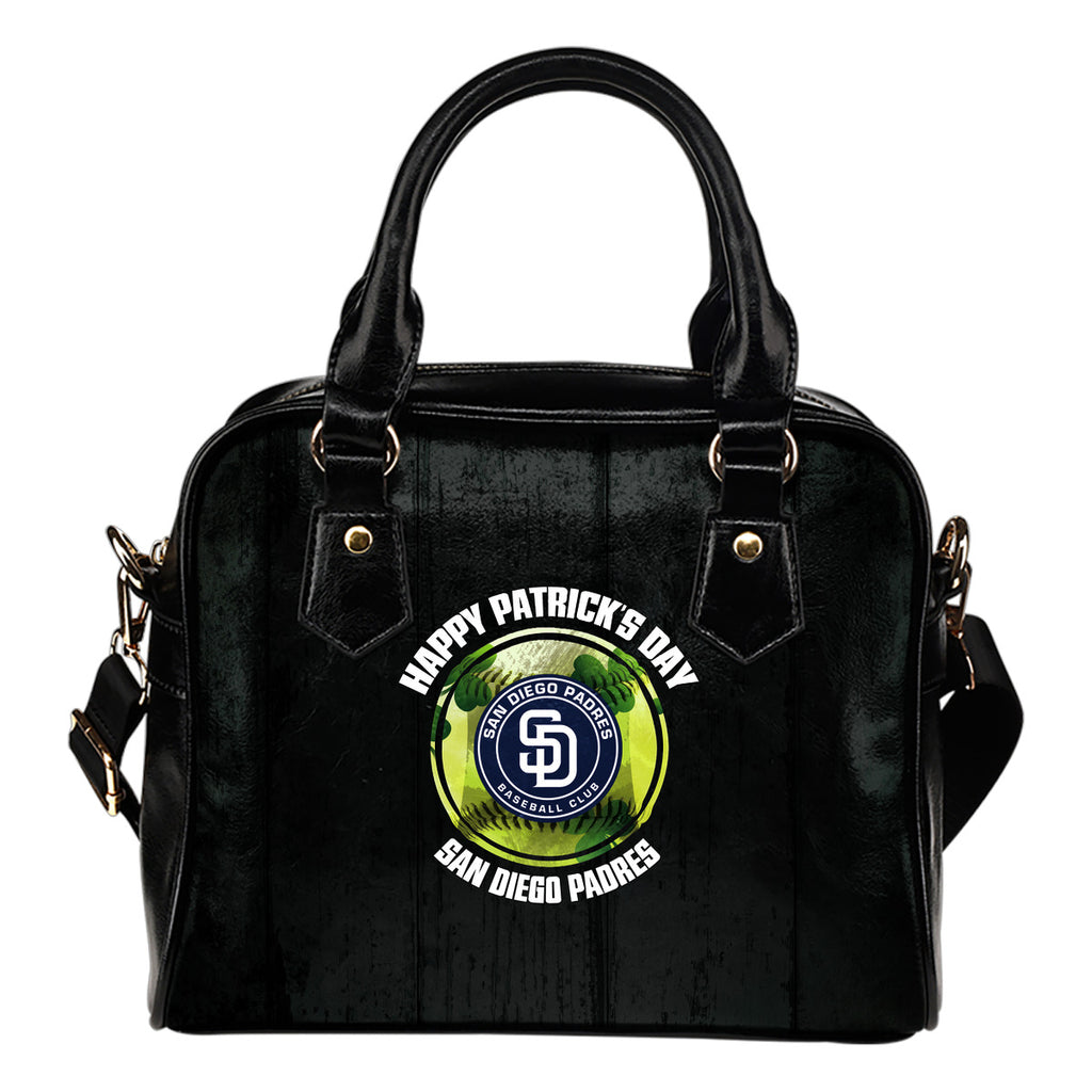 Retro Scene Lovely Shining Patrick's Day San Diego Padres Shoulder Handbags
