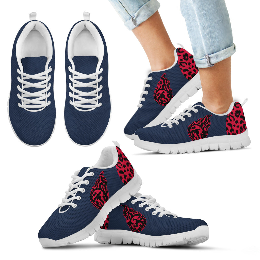 Cheetah Pattern Fabulous Tennessee Titans Sneakers