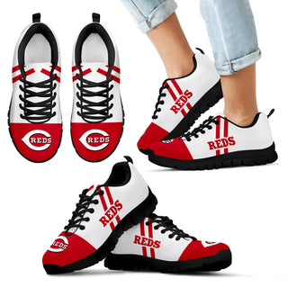 Line Stripe Logo Bottom Cincinnati Reds Sneakers