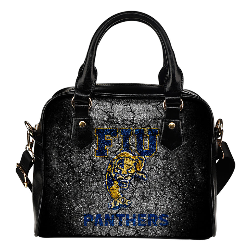Wall Break FIU Golden Panthers Shoulder Handbags Women Purse